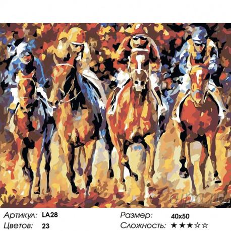 Количество цветов и сложность Лидер скачек Раскраска картина по номерам на холсте LA28