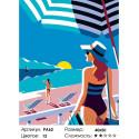 Количество цветов и сложность На пляже Раскраска картина по номерам на холсте PA62