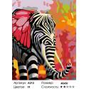 Количество цветов и сложность Полосатый слон Раскраска картина по номерам на холсте A212