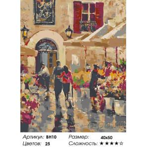 Количество цветов и сложность Цветочная улица Раскраска картина по номерам на холсте BH10
