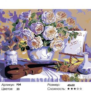 Вдохновение Раскраска картина по номерам на холсте F04