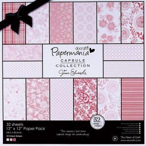 Parkstone Pink Набор бумаги 30x30 для скрапбукинга, кардмейкинга Docrafts