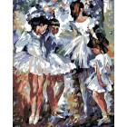 Юные балерины Раскраска картина по номерам на холсте LA48
