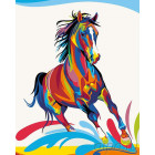 Радужный конь Раскраска картина по номерам на холсте PA11