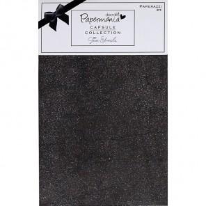 Bexley Black Набор бумаги с глиттером для скрапбукинга, кардмейкинга Docrafts