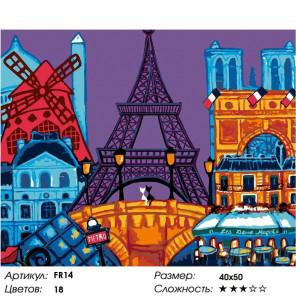 Романтика Парижа Раскраска картина по номерам на холсте FR14