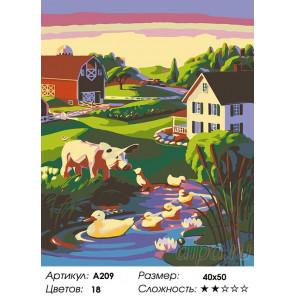 Количество цветов и сложность В деревне Раскраска картина по номерам на холсте A209