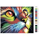 Раскладка Радужный кот Раскраска картина по номерам на холсте RA046