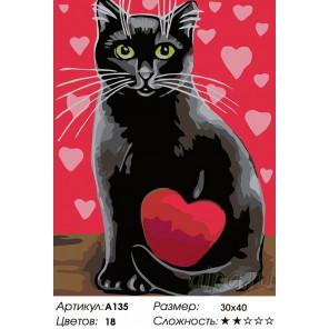 Валентинка Раскраска картина по номерам на холсте A135