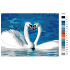 Раскладка Пара лебедей Раскраска картина по номерам на холсте KRYM-AN10