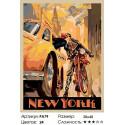 Количество цветов и сложность Вечерний Нью-Йорк Раскраска картина по номерам на холсте PA79