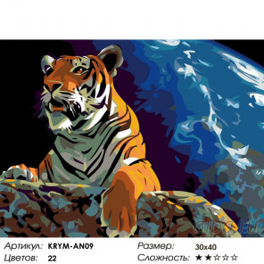 Количество цветов и сложность Властелин мира Раскраска картина по номерам на холсте KRYM-AN09