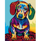 Радужный щенок Раскраска картина по номерам на холсте A102