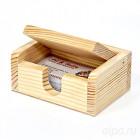 Подставка под визитки деревянная с крышкой ПВ110805