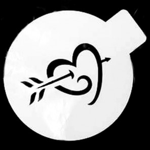 Сердце со стрелой Трафарет для кофе и десертов Т033