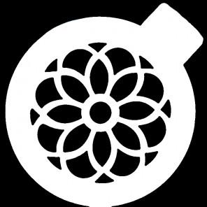 Цветок ажурный Трафарет для кофе и десертов Т046