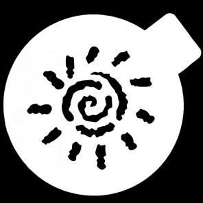 Солнышко Трафарет для кофе и десертов Т051