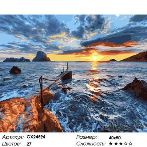 Сложность и количество красок На закате Раскраска картина по номерам на холсте GX24594