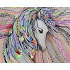 Милая лошадка Раскраска картина по номерам на холсте GX25768