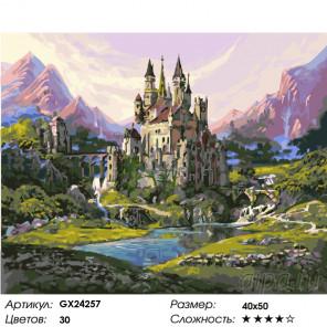 Замок в горах Раскраска картина по номерам на холсте GX24257