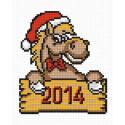 Лошадка новогодняя Набор для вышивания Овен 572