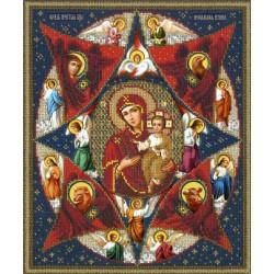 Богородица Неопалимая Купина Набор для частичной вышивки бисером Русская искусница 501