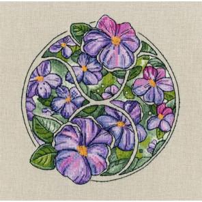 Телец (Цветочный гороскоп) Набор для вышивания Золотое Руно ЦГ-002