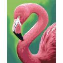 Веселый фламинго Раскраска по номерам Dimensions