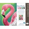 Внешний вид коробки Веселый фламинго Раскраска по номерам Dimensions DMS-73-91677