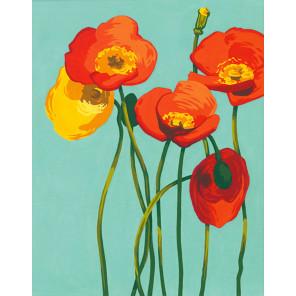 Яркие цветы Раскраска по номерам Dimensions DMS-73-91678