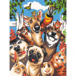 Селфи домашних любимцев Раскраска по номерам Dimensions DMS-73-91679