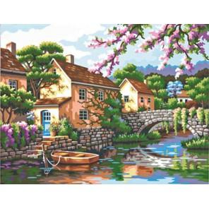 Вид на реку 73-91440 Раскраска по номерам акриловыми красками Dimensions