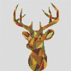 Пример оформления в рамку Гордый олень Набор для вышивания KR-016