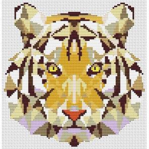 Пример оформления в рамку Тигр Набор для вышивания KR-001
