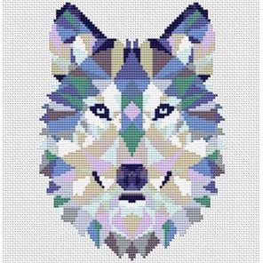 Пример оформления в рамку Волк Набор для вышивания KR-005