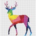 Радужный олень Набор для вышивания KR-012