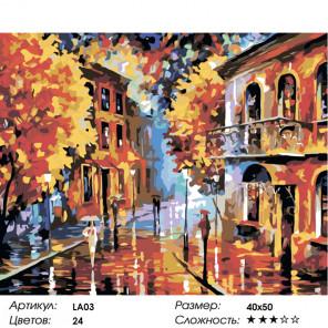 Раскладка Осенний этюд Раскраска по номерам акриловыми красками на холсте Живопись по номерам