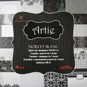 Черное и белое Набор бумаги 20x20 для скрапбукинга, кардмейкинга