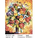 1 Цветы (репродукция Леонида Афремова) Раскраска по номерам на холсте Живопись по номерам
