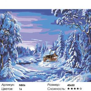 1 Волшебство зимы (художник Ники Боэм) Раскраска по номерам на холсте Живопись по номерам