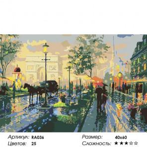 Раскладка Париж весной Раскраска по номерам на холсте Живопись по номерам