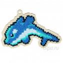 Дельфин Флиппер Алмазная мозаика подвеска Гранни Wood W0120