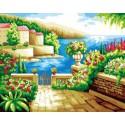 Райский уголок Раскраска по номерам на холсте Iteso