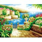 Райский уголок Раскраска по номерам акриловыми красками на холсте Iteso