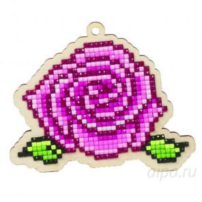 Роза Алмазная мозаика подвеска Гранни Wood W0122