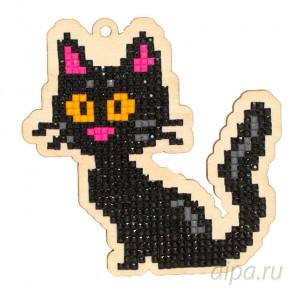 Черная кошка Алмазная мозаика подвеска Гранни Wood W0193