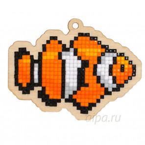 Рыбка-клоун Алмазная мозаика подвеска Гранни Wood W0260