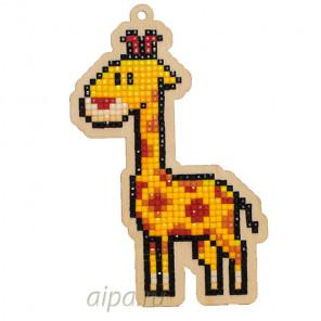 Жираф Алмазная мозаика подвеска Гранни Wood W0261