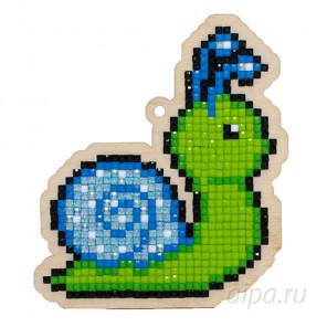 Улитка голубая Алмазная мозаика подвеска Гранни Wood W0265