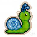 Улитка голубая Алмазная мозаика подвеска Гранни Wood